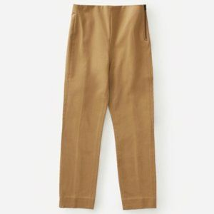 Everlane Side-zip Stretch Cotton Pant In Ochre 0